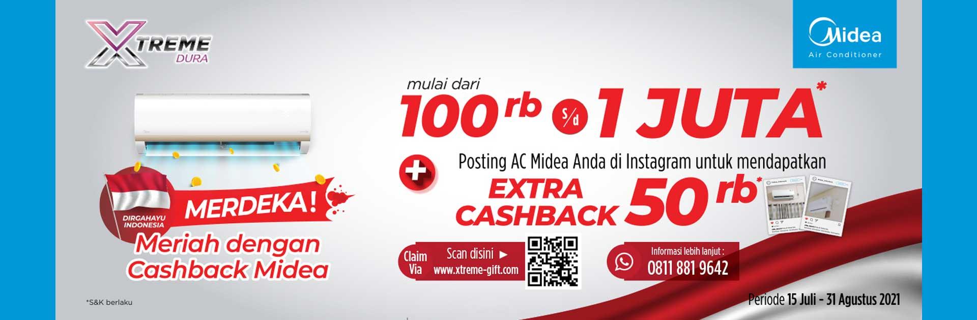 Promo Meriah Dengan Cashback Midea