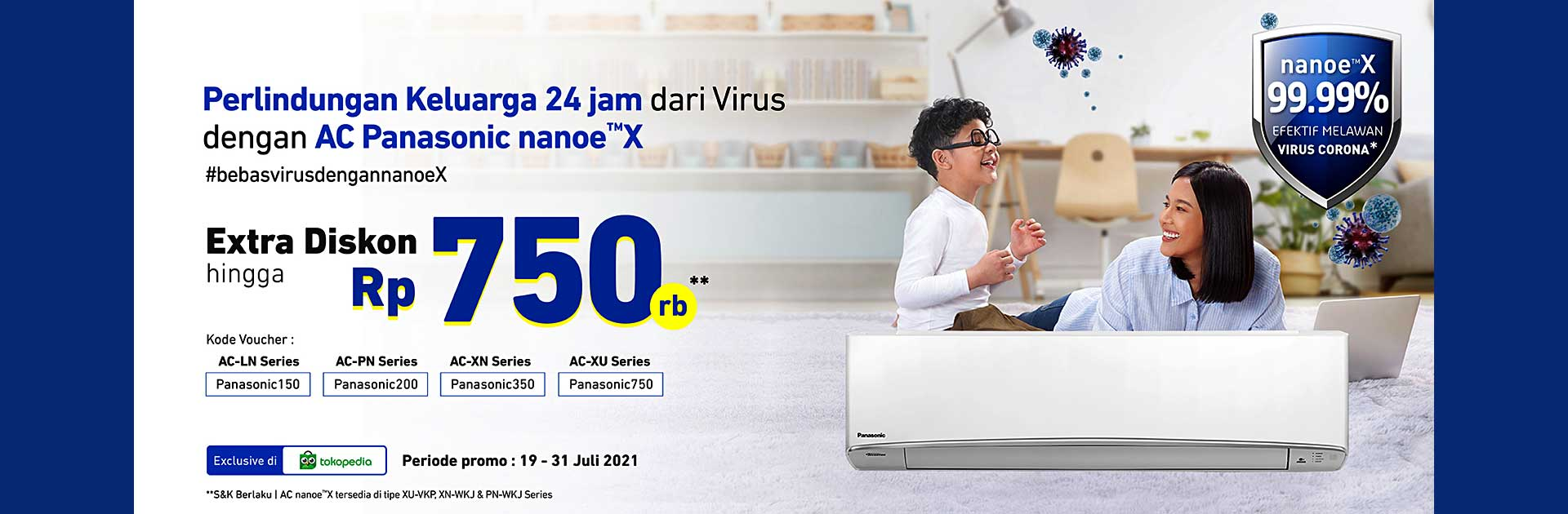 Promo AC Panasonic Extra Discount AC Nanoe-X
