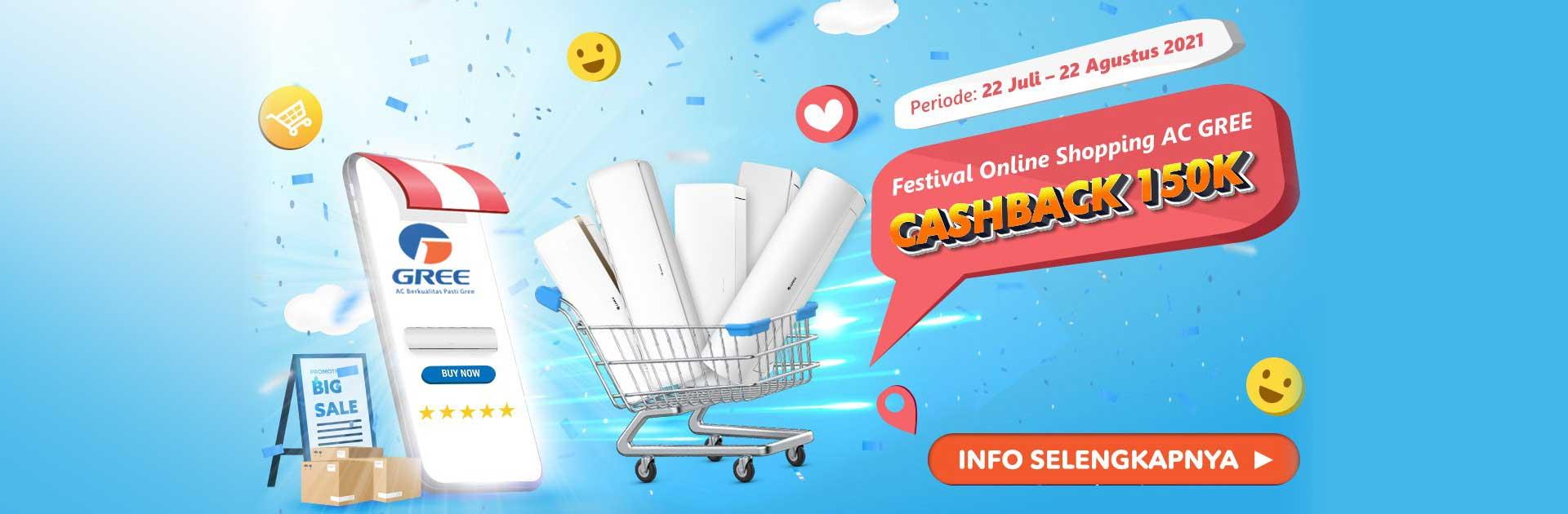Festival Online Shopping AC Gree Kasih Review Dapat Cashback 150rb